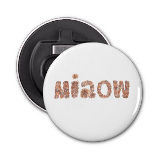Bottle opener with 'miaow' button bottle opener