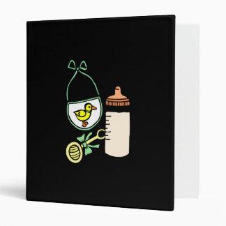 bottle rattle bib green binders