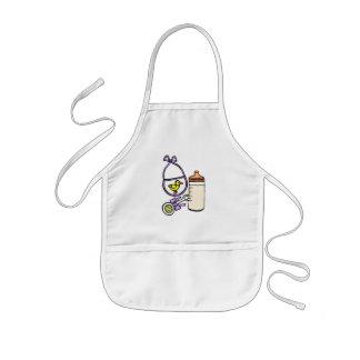 bottle rattle bib lavender kids apron