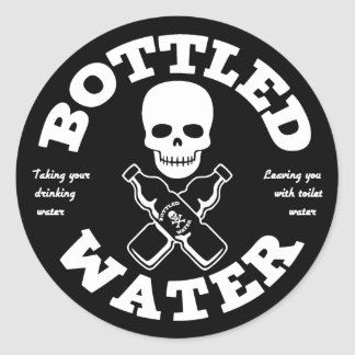 Bottled Water Classic Round Sticker
