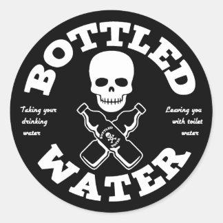 Bottled Water Round Sticker
