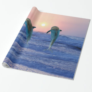 Bottlenose Dolphin at Sunrise Wrapping Paper