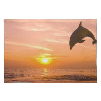 Bottlenose Dolphin jumping 2 Placemat