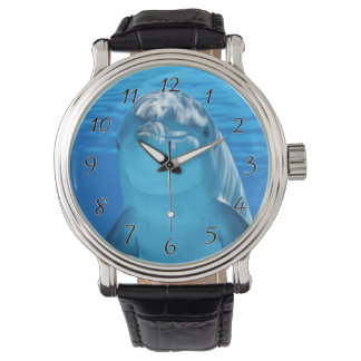 Bottlenose Dolphin looks at the camera under water Wristwatch