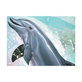 Bottlenose Dolphin Stretched Canvas Print