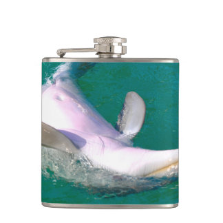 Bottlenose Dolphin Upside Down Hip Flask