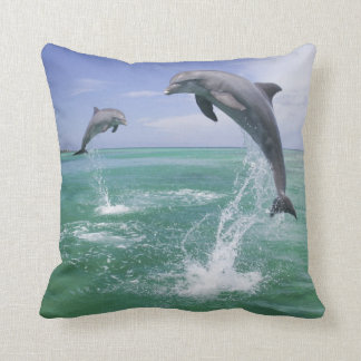 Bottlenose Dolphins Tursiops truncatus) 4 Throw Pillow