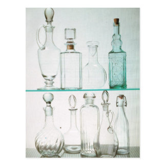 Bottles and decanters postcard