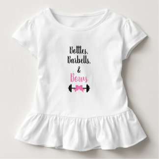 Bottles, Barbells, & Bows Toddler T-shirt