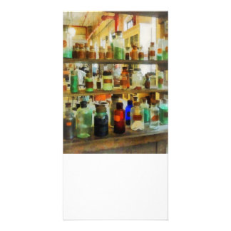 Bottles of Chemicals Green and Brown Photo Card