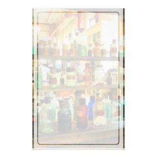 Bottles of Chemicals Green and Brown Stationery