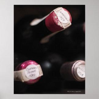 Bottles of wine, close-up, Sweden. Poster