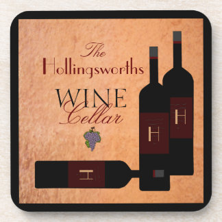Bottles of Wine -Personalized Coaster