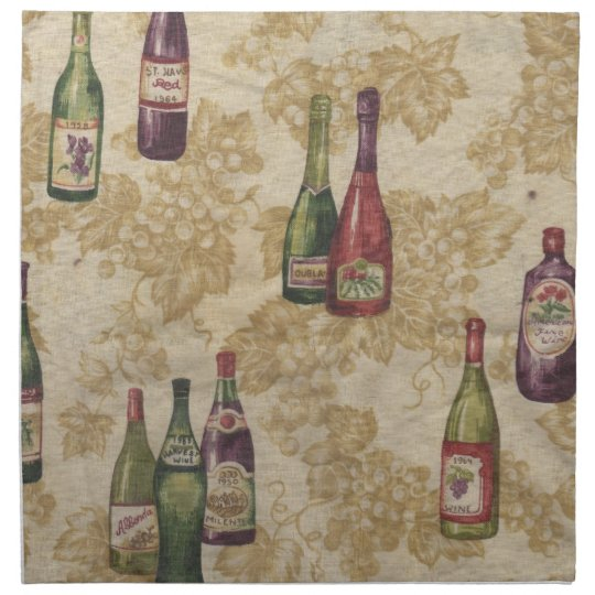Bottles of Wine Table Napkins