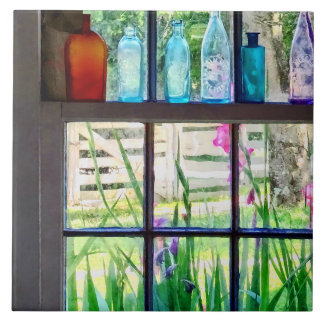 Bottles on Kitchen Window Ceramic Tiles