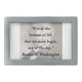 Bottom Of Life - Booker T Washington Belt Buckle