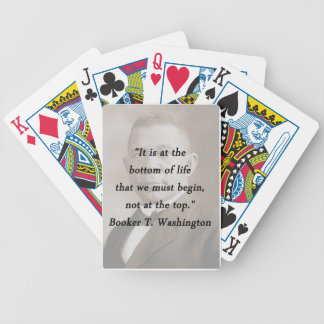 Bottom Of Life - Booker T Washington Bicycle Playing Cards