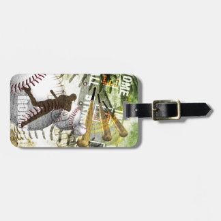 Bottom of the 9th Baseball Player Luggage Tag