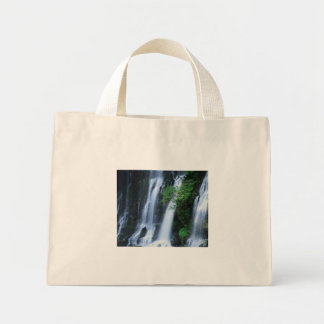 Bottom ofTriple waterfall On A Stripped Canvas Bag
