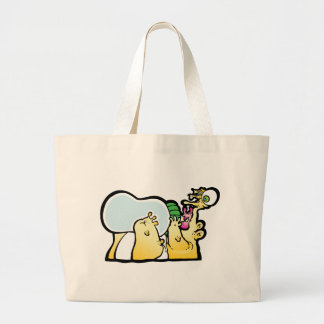 Bottoms up! canvas bag