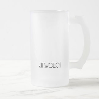 Bottoms up beer mug
