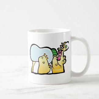 Bottoms up! classic white coffee mug