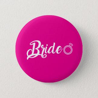 Botton Bride pink 2 Inch Round Button
