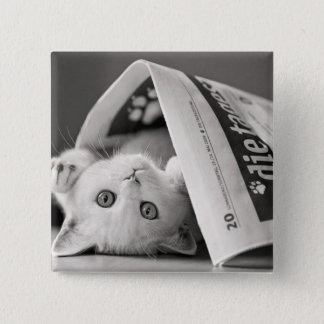Botton Cat 2 Inch Square Button