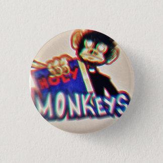 Botton Holy Monkeys 1 Inch Round Button