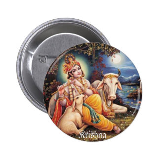 botton Krishna 2 Inch Round Button