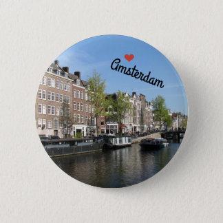 Botton/Pin ~ Amsterdam, Netherlands 2 Inch Round Button