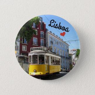 Botton/Pin ~ Lisbon, Portugal 2 Inch Round Button