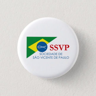 Botton Soon SSVP of Brazil 1 Inch Round Button