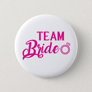 Botton Team Bride 2 Inch Round Button
