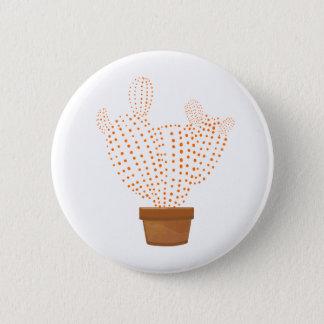 Botton with orange cactus 2 inch round button