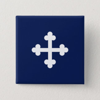 Bottony Blue Flag 2 Inch Square Button