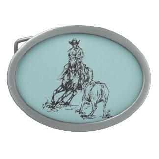 Boucle de ceinture occidentale de cowboy de cheval