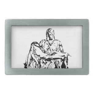 ca75bbdff10 Boucle De Ceinture Rectangulaire Mère Mary et Jésus de Vierge