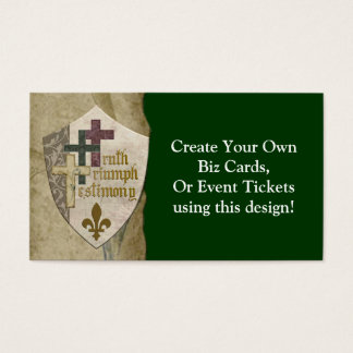 Bouclier chrétien de trinité - créez vos propres cartes de visite