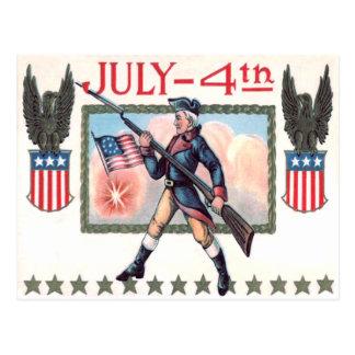 Bouclier révolutionnaire de drapeau américain de cartes postales