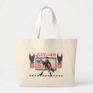 Bouclier révolutionnaire de drapeau américain de sac en toile jumbo