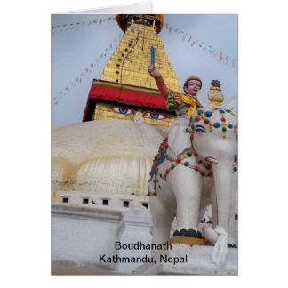 Boudhanath, Kathmandu, Nepal Card