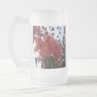 Bougainvillea At Daybreak Frosted Glass Beer Mug