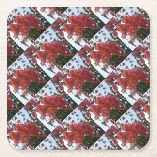 Bougainvillea At Daybreak Square Paper Coaster