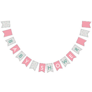 Bougainvillea Baby Shower Bunting Flags