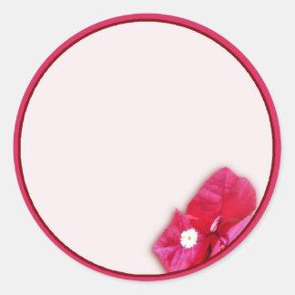 Bougainvillea Blossom Classic Round Sticker
