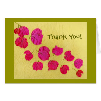 Bougainvillea Blossoms Card