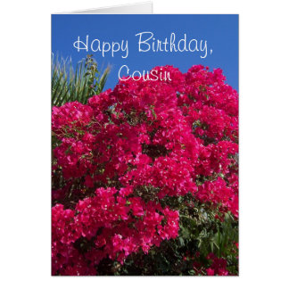 Bougainvillea Cousin Birthday Card