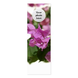 Bougainvillea Custom Bookmark Business Card Template