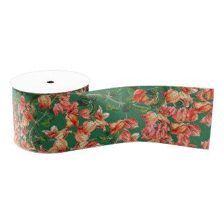 Bougainvillea Floral Flower Grosgrain Ribbon